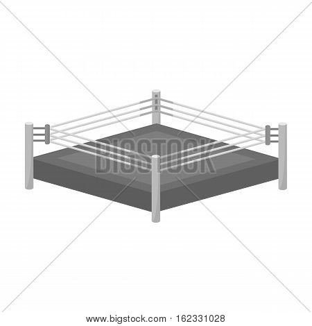 Boxing ring icon in monochrome style isolated on white background. Boxing symbol vector illustration.