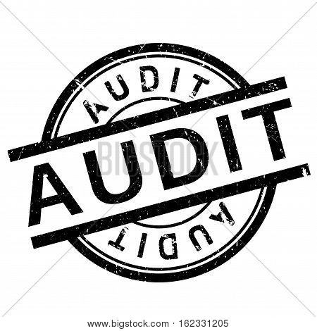 Audit stamp. Grunge design with dust scratches. Effects can be easily removed for a clean, crisp look. Color is easily changed.