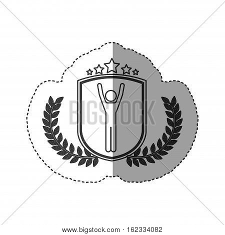 Winner inside label icon. Competition success sport and challenge theme. Isolated design. Vector illustration
