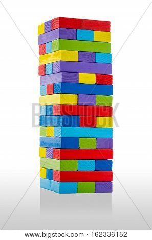 Wooden Building Blocks, In Many Colors