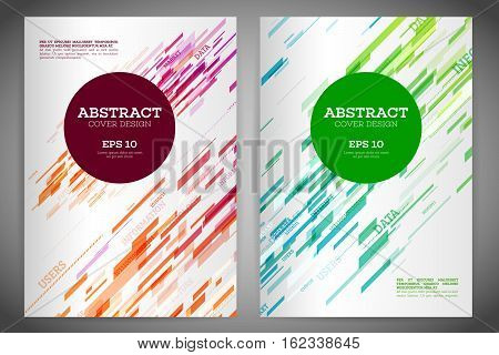 Technology line brochure book cover template layout. Abstract geometric cover flyer magazine. Prospectus design vector template geometric lines and lights abstract backgrounds. Vector illustration eps 10