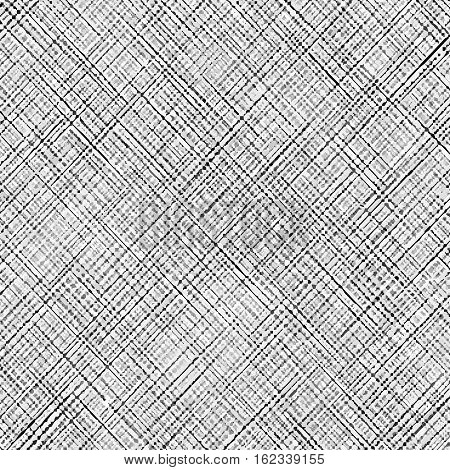 Cross-strokes Gray background. Gray background of thin intersecting diagonal lines. Gauze texture poster