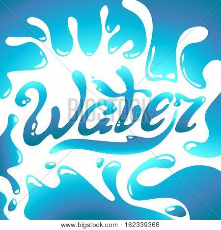Turquoise Word Water text Water Day Water lettering logo
