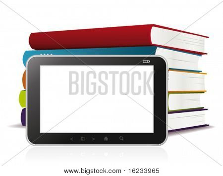 E-Book-Reader. Vektor