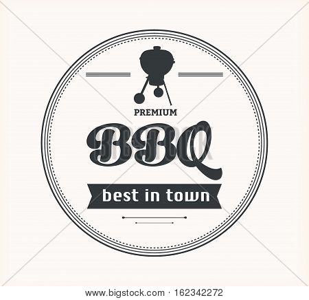 Barbeque vintage sign on white background, vector illustration