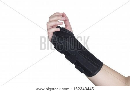 Patient Is Wearing A Black Wristband.