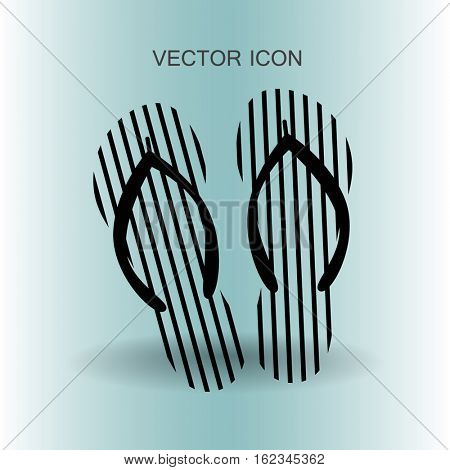 Flip flops icon vector illustration