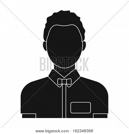 Boxing referee icon in black style isolated on white background. Boxing symbol vector illustration.