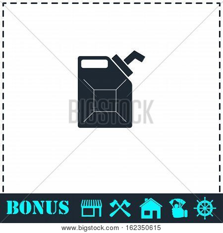 Canister icon flat. Simple vector symbol and bonus icon