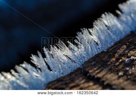 Big Close Up Of Snow Or Ice Crystals