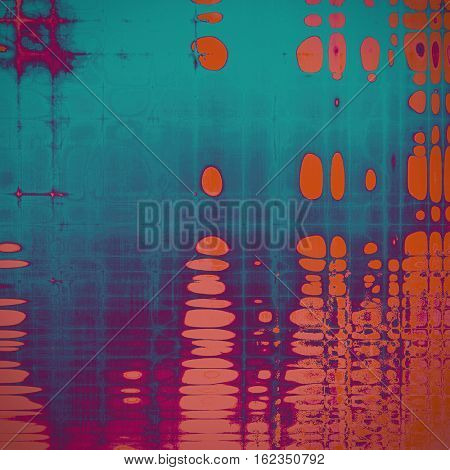 Scratched vintage texture, grunge style frame or background. With different color patterns: yellow (beige); blue; red (orange); purple (violet); pink