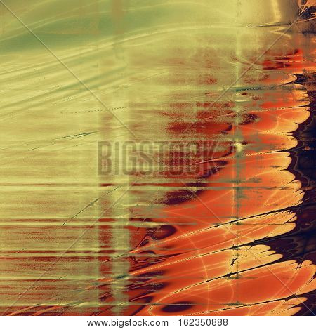 Mottled vintage background with grunge texture and different color patterns: yellow (beige); brown; green; gray; red (orange); purple (violet)