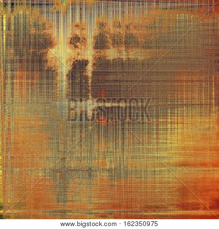 Abstract colorful background or backdrop with grunge texture and different color patterns: yellow (beige); brown; green; gray; red (orange)