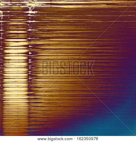 Retro grunge vintage background or weathered antique texture with different color patterns: yellow (beige); brown; blue; red (orange); purple (violet)