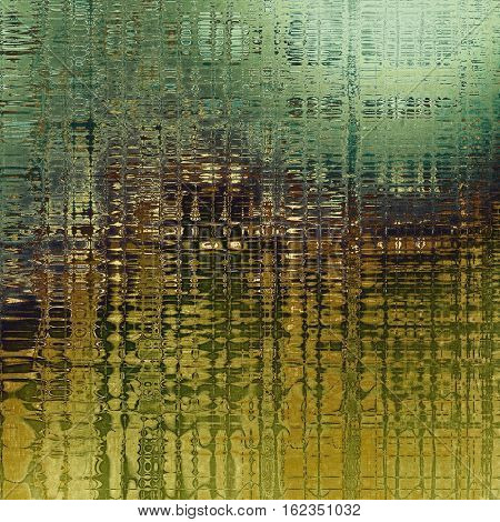Mottled vintage background with grunge texture and different color patterns: yellow (beige); brown; green; gray; cyan
