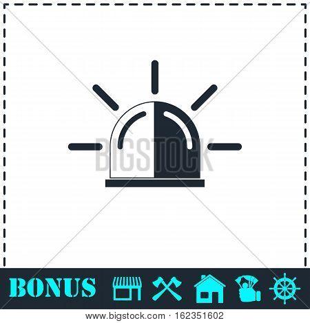 Siren icon flat. Simple vector symbol and bonus icon