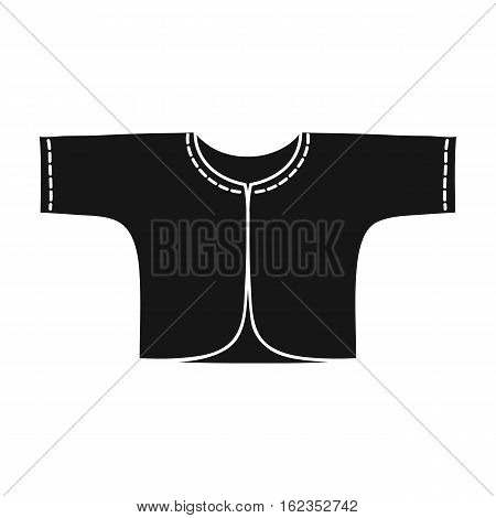 Baby loose jacket icon in black style isolated on white background. Baby born symbol vector illustration.