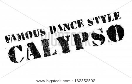 Famous dance style, Calypso stamp. Grunge design with dust scratches. Effects can be easily removed for a clean, crisp look. Color is easily changed.