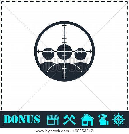 Kill icon flat. Simple vector symbol and bonus icon
