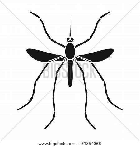 Mosquito icon in black design isolated on white background. Insects symbol stock vector illustration.