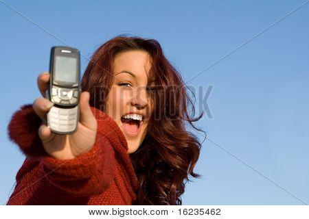 roter Kopf mit Handy