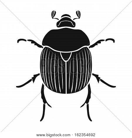 Dor-beetle icon in black design isolated on white background. Insects symbol stock vector illustration.