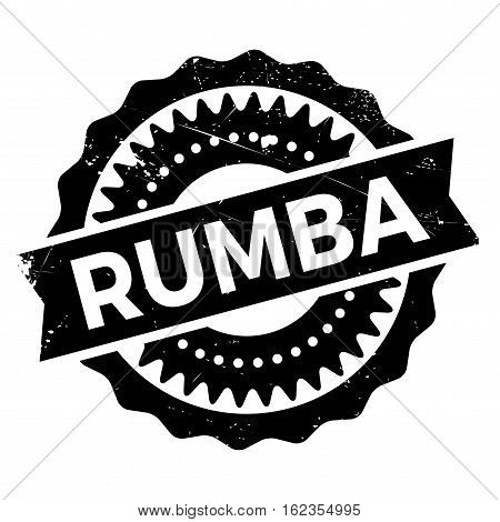Famous dance style, Rumba stamp. Grunge design with dust scratches. Effects can be easily removed for a clean, crisp look. Color is easily changed.