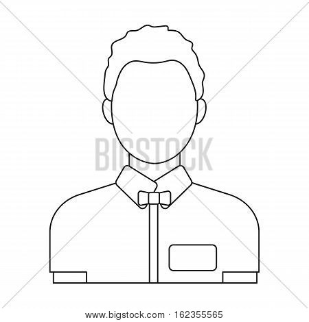 Boxing referee icon in outline style isolated on white background. Boxing symbol vector illustration.