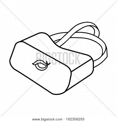 Virtual reality glasses icon in outline style isolated on white background. Virtual reality symbol vector illustration.