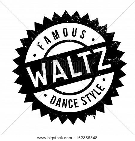 Famous dance style, waltz stamp. Grunge design with dust scratches. Effects can be easily removed for a clean, crisp look. Color is easily changed.