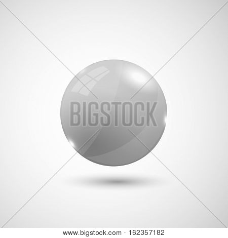 White 3d sphere illustration on a white background