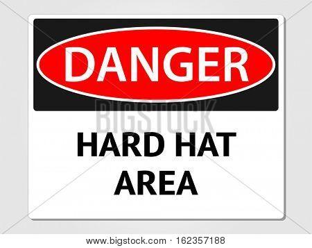 Hard hat area sign illustration