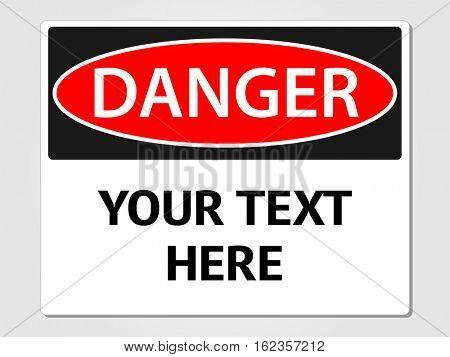Danger sign illustration on a white background