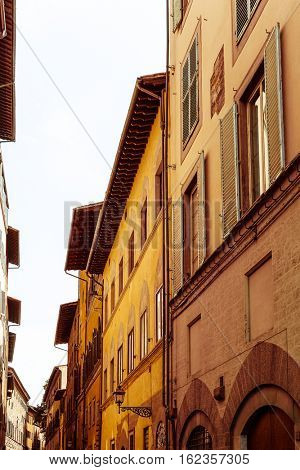 street view of Old Town Florence Tuscany, Italy
