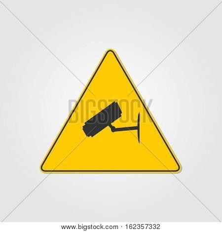 Video surveillance sign illustration on a white background