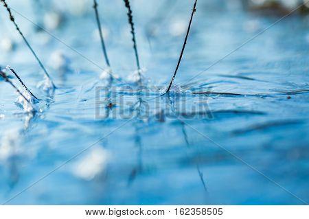 Ice On Water Texture.