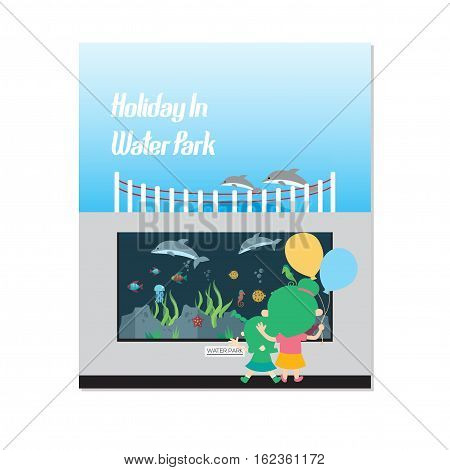 Holiday in The Water Park, This design is suitable for a brochure, banner or poster