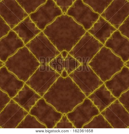 Brown and yellow symmetry seamless design image