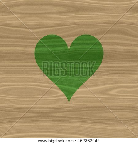 Nice green heart environment natural spa template background