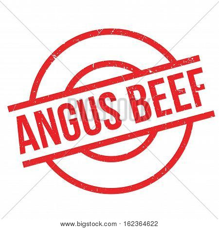 Angus Beef rubber stamp. Grunge design with dust scratches. Effects can be easily removed for a clean, crisp look. Color is easily changed.