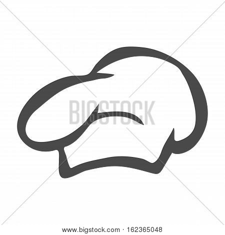 Chef hat silhouette isolated. Black hat chef cook for logo