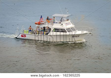 Close Up Of The Scuba Diving Boat In Fort Lauderdale