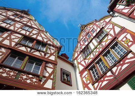 Old Framework Buildings In Bernkastel-kues, Germany