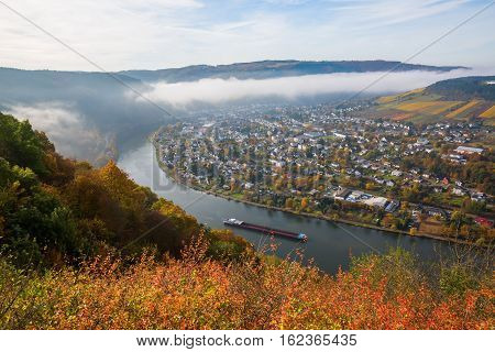 Aerial View Of The Moselle River In Germany