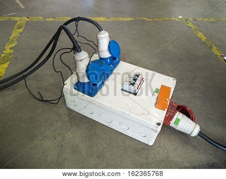 The socket electricity for peripheral devices the factory