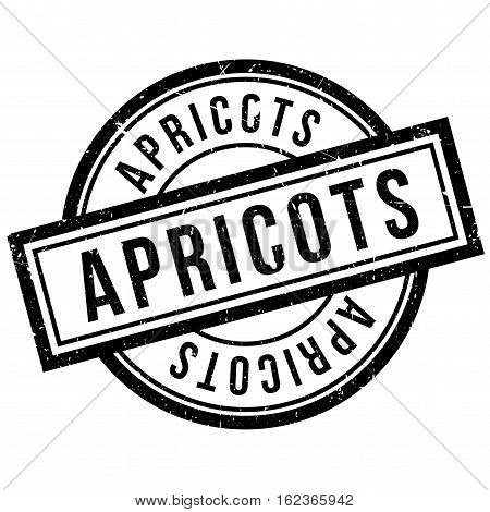 Apricots rubber stamp. Grunge design with dust scratches. Effects can be easily removed for a clean, crisp look. Color is easily changed.