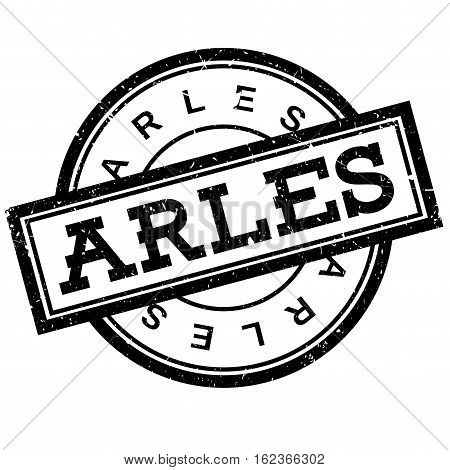 Arles rubber stamp. Grunge design with dust scratches. Effects can be easily removed for a clean, crisp look. Color is easily changed.