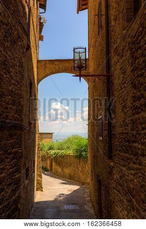 Archway In San Gimignano, Tuscany, Italy