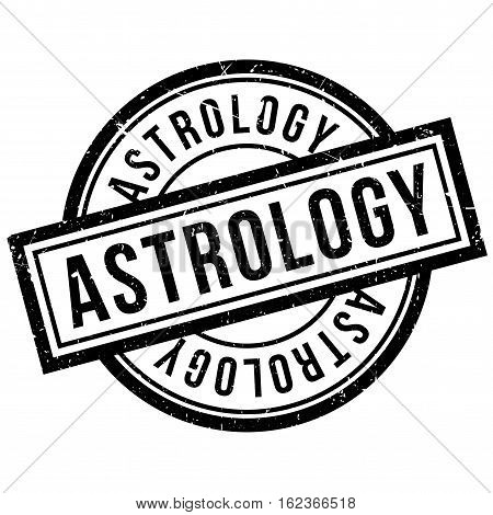 Astrology rubber stamp. Grunge design with dust scratches. Effects can be easily removed for a clean, crisp look. Color is easily changed.