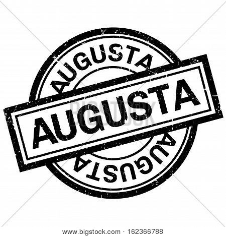 Augusta rubber stamp. Grunge design with dust scratches. Effects can be easily removed for a clean, crisp look. Color is easily changed.